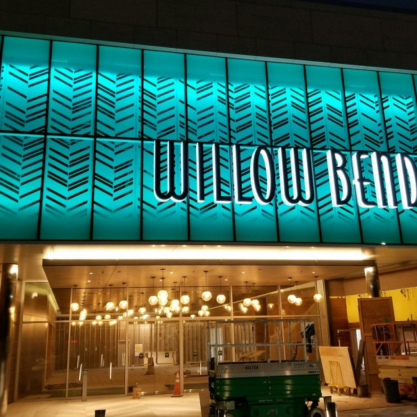 Integrated Signs & Graphics in KY just completed a project with Bitro RGB Wall washers